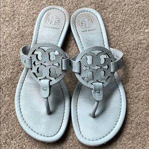 Tory Burch Light Blue Seltzer Miller Sandals 7